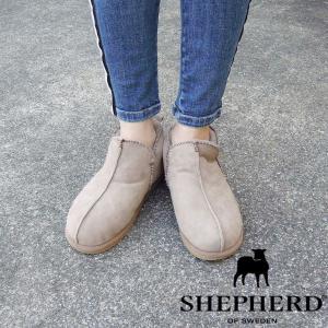 シェパード/SHEPHERD ムートンショートブーツ ANNIE 38 24cm 24.5cm ベージュ ストーン シープスキン 通販 女性 おしゃれ 人気|classica