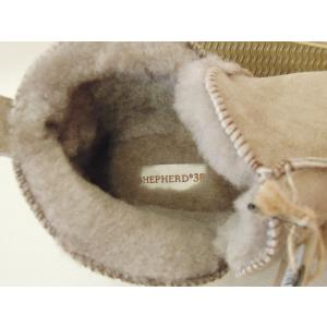 シェパード/SHEPHERD ムートンショートブーツ ANNIE 38 24cm 24.5cm ベージュ ストーン シープスキン 通販 女性 おしゃれ 人気|classica|08