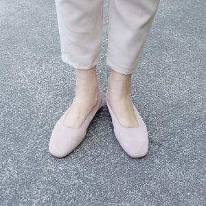 イタリア製 スエードフラットシューズ レディース 37 23.5cm 靴 パンプス  ベージュ 通販 ブランド 海外 Stilmoda おしゃれ ペタンコ オフィス|classica