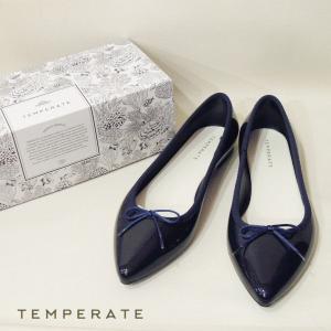TEMPERATEテンパレイト/バレエシューズ パンプス ネイビー 紺 40 24.5cm 25cm レインシューズ 靴 レディース ALMAアルマ ポインテッドフラットシューズ 通販|classica