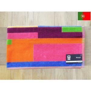 JMAジェイエムエー/ポルトガル製フェイスタオル モザイコ 40×75 ロングハンドタオル スポーツタオル 綿100%  幾何学柄|classica