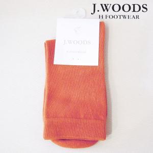 ポルトガル製 コットンカラーソックス 靴下 レディース 女性 婦人 春夏 薄手 オレンジ 海外 ブランド 通販 おしゃれ J.WOODS|classica