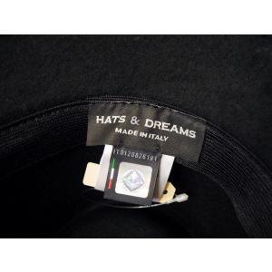 HATS&DREAMS/イタリア製フェルト中折れハット レディース 黒 ブラック リボン 帽子 インポート おしゃれ ツバ短め 上品 ウール 30代 40代 50代|classica|06