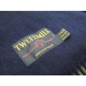 TWEEDMILL ウールマフラー レディース ツイードミル ネイビー 紺 ストール ラムウール 通販 おしゃれ プレゼント 無地 イギリス製|classica|06