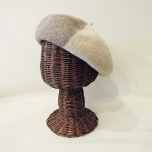 イタリア バイカラーウールベレー帽 レディース メンズ 秋 冬 帽子 ベージュ ブラウン 通販 おしゃれ ナチュラル ニット帽 小物|classica