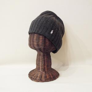 ラルフローレン ウール混合ニットキャップ グレー 灰色 メンズ レディース 男性 女性 ニット帽 ワッチキャップ POLO RALPH LAUREN|classica