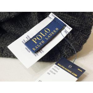ラルフローレン ウール混合ニットキャップ グレー 灰色 メンズ レディース 男性 女性 ニット帽 ワッチキャップ POLO RALPH LAUREN classica 05