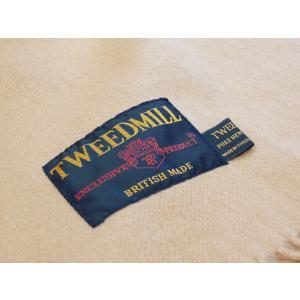 TWEEDMILL ウールマフラー レディース ツイードミル ベージュ ラムウール ストール 通販 おしゃれ イギリス製 無地 プレゼント classica 06