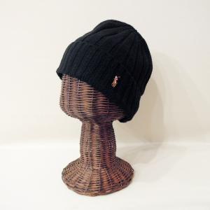 ラルフローレン ウール混合ニットキャップ 黒 ブラック メンズ レディース 男性 女性 兼用 ワッチキャップ ニット帽 POLO RALPH LAUREN|classica