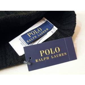 ラルフローレン ウール混合ニットキャップ 黒 ブラック メンズ レディース 男性 女性 兼用 ワッチキャップ ニット帽 POLO RALPH LAUREN|classica|05