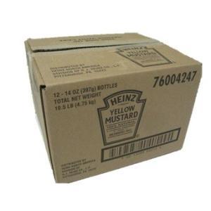 マスタード HEINZ ハインツ イエローマスタード イージースクイーズ 逆さボトル 396G ×12本(1ケース)|classicalcoffee