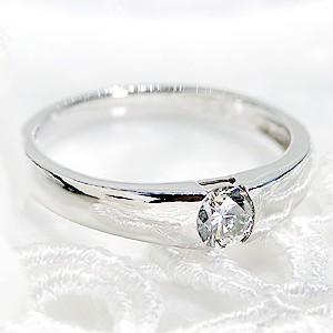 一粒ダイヤモンド タンクリング プラチナ 大粒ダイヤ 0.3ct
