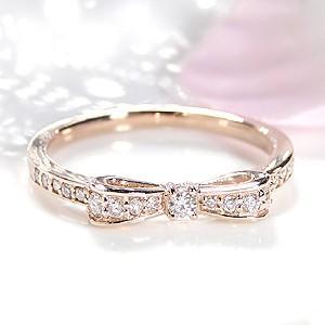 ダイヤモンド リボンリング ピンクゴールド ダイヤリング あすつく対応|classicchess|02