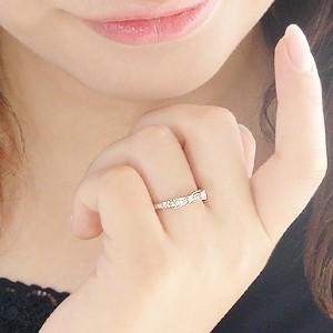 ダイヤモンド リボンリング ピンクゴールド ダイヤリング あすつく対応|classicchess|03