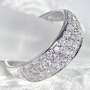 ダイヤモンド リング プラチナ pt950 パヴェ 指輪 エタニティ 1カラット 1.0ct 豪華 フラット ダイヤ ダイヤリング CSR0264-pt|classicchess|02