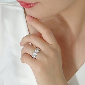 ダイヤモンド リング プラチナ pt950 パヴェ 指輪 エタニティ 1カラット 1.0ct 豪華 フラット ダイヤ ダイヤリング CSR0264-pt|classicchess|03