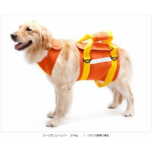 【あすつく対応】大型犬用介護ハーネス ネオプレーン(オレンジ)SS〜LL【歩行補助・犬用介護用品】fs3gm|classy