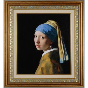 フェルメール 真珠の耳飾りの少女 / 青いターバンの少女 / スタンダード版 中 複製画 巧藝画 6号 限定500部 大塚巧藝新社