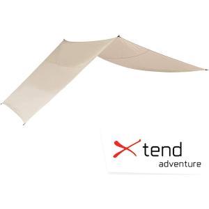 エクステンドアドベンチャー Xtend-Adventure ドイツ発、映えるコットンタープ ポリコットンタープ Tarp 65% ベージュ 425×425センチ|cleaner-parts