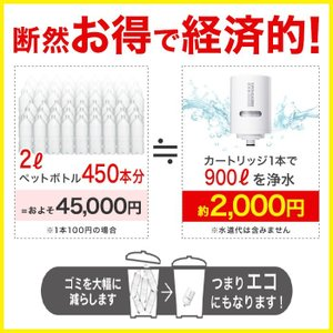 [MDC01S2--2]MDC01S 2本セット 訳あり品 三菱ケミカル クリンスイ 蛇口直結型 浄水器 MONOシリーズ 浄水器カートリッジ cleansui 03