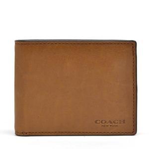 コーチ 財布  COACH カーフ スリム ビル ID ウォレット メンズ二つ折り財布 74900 EN8(サドル1)|clear