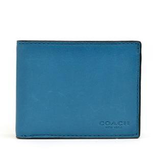 コーチ 財布  COACH カーフ スリム ビル ID ウォレット メンズ二つ折り財布 74900 PEC(ピーコック)|clear