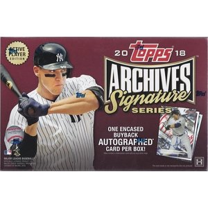 MLB 2018 TOPPS ARCHIVES SIGNATURE ACTIVE PLAYER 1BOX