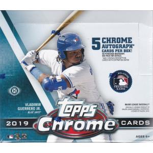 MLB 2019 TOPPS CHROME BASEBALL HOBBY JUMBO 1BOX(12パック入り)|clearfile