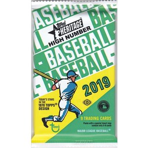 MLB 2019 TOPPS HERITAGE HIGH NUMBER HOBBY 1パック(9枚入り)|clearfile