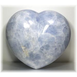 マダガスカル産ブルーカルサイト BIGサイズ ハートシェイプ 【BLUECALCIT-BIGHEART】|clearstones