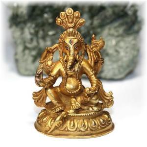 ネパール産ガネーシャ神像/真鍮製 【GANEZA-BRASS01】|clearstones