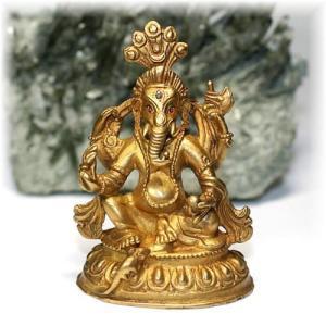 ネパール産ガネーシャ神像/真鍮製 【GANEZA-BRASS04】|clearstones