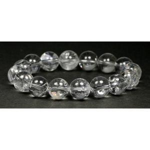 2Aブラジル産天然レインボー水晶12ミリ玉ブレスレット 【RAINBOWQUARTZ-2A1205】|clearstones