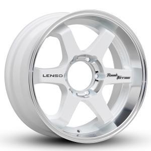 【送料無料】LENSO RT-8 17x8.0J +20 6H-139.7 ホワイト/マシンド 4本セット|cleaveonline