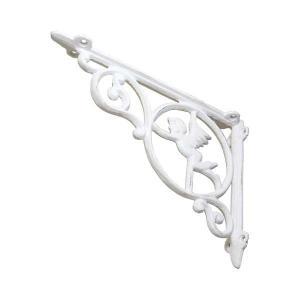 アイアン ブラケット 棚受け金具 白 DIY エンジェル かわいい ホワイト 大きい|cleebs