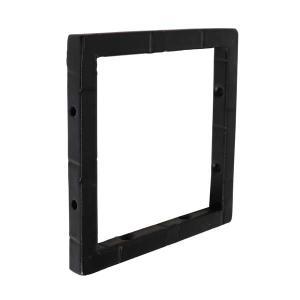 アイアン ブラケット 棚受け金具 黒 Sサイズ DIY シンプル スクエア ブラック 小さい|cleebs