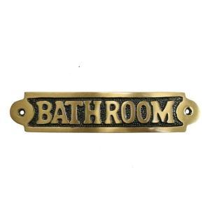 ブラス・サインプレート バスルーム|cleebs