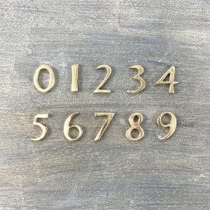 【ネコポス対応】ナンバー / ゴールド 23mm DIY レター&ナンバー|cleebs