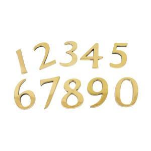 【ネコポス対応】ナンバー / ゴールド 45mm DIY レター&ナンバー cleebs
