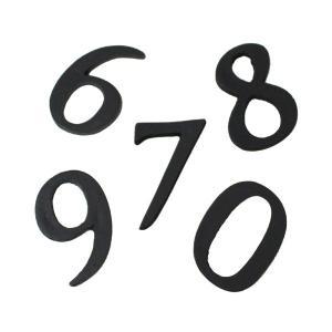 ブラックナンバー数字50mm|cleebs