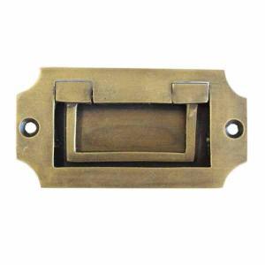 アンティーク調真鍮製取っ手 ハンドル 埋め込み型 アンティーク ゴールド 家具 リメイク|cleebs