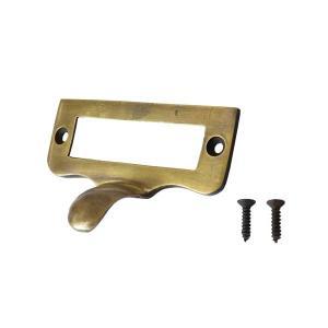アンティーク調真鍮製ネーム取っ手|cleebs