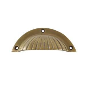 真鍮製半月型取っ手 ライン入り|cleebs