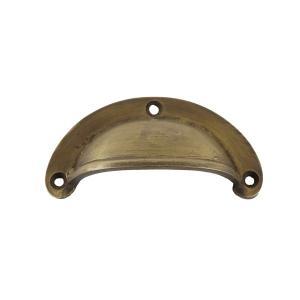 アンティーク調真鍮製半月型取っ手L|cleebs