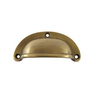 アンティーク調真鍮製半月型取っ手S|cleebs
