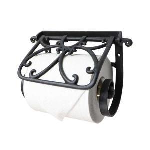 トイレットペーパーホルダー / 真鍮 ブラックカラー|cleebs