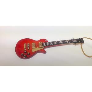 [在庫処分セール 30%off]   レスポール ギター 赤 クリスマス オーナメント ミニチュア楽器 ORNAMENT RED LP ELEC GUITAR 5