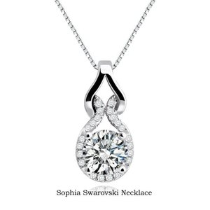 ネックレス ソフィア スワロフスキー ネックレス 誕生日  女性 母の日 プレゼント 彼女 妻 結婚...