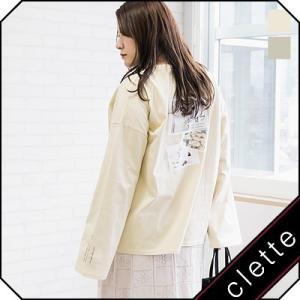 大きいサイズ レディース バックフォトプリント長袖Tシャツ|clette-online
