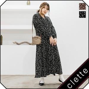 大きいサイズ レディース 花柄開襟ロングワンピース|clette-online